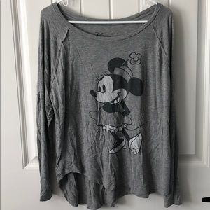 Grey Minnie Mouse Long sleeve top